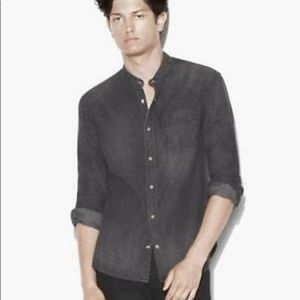 John varvatos band collar denim shirt. Small